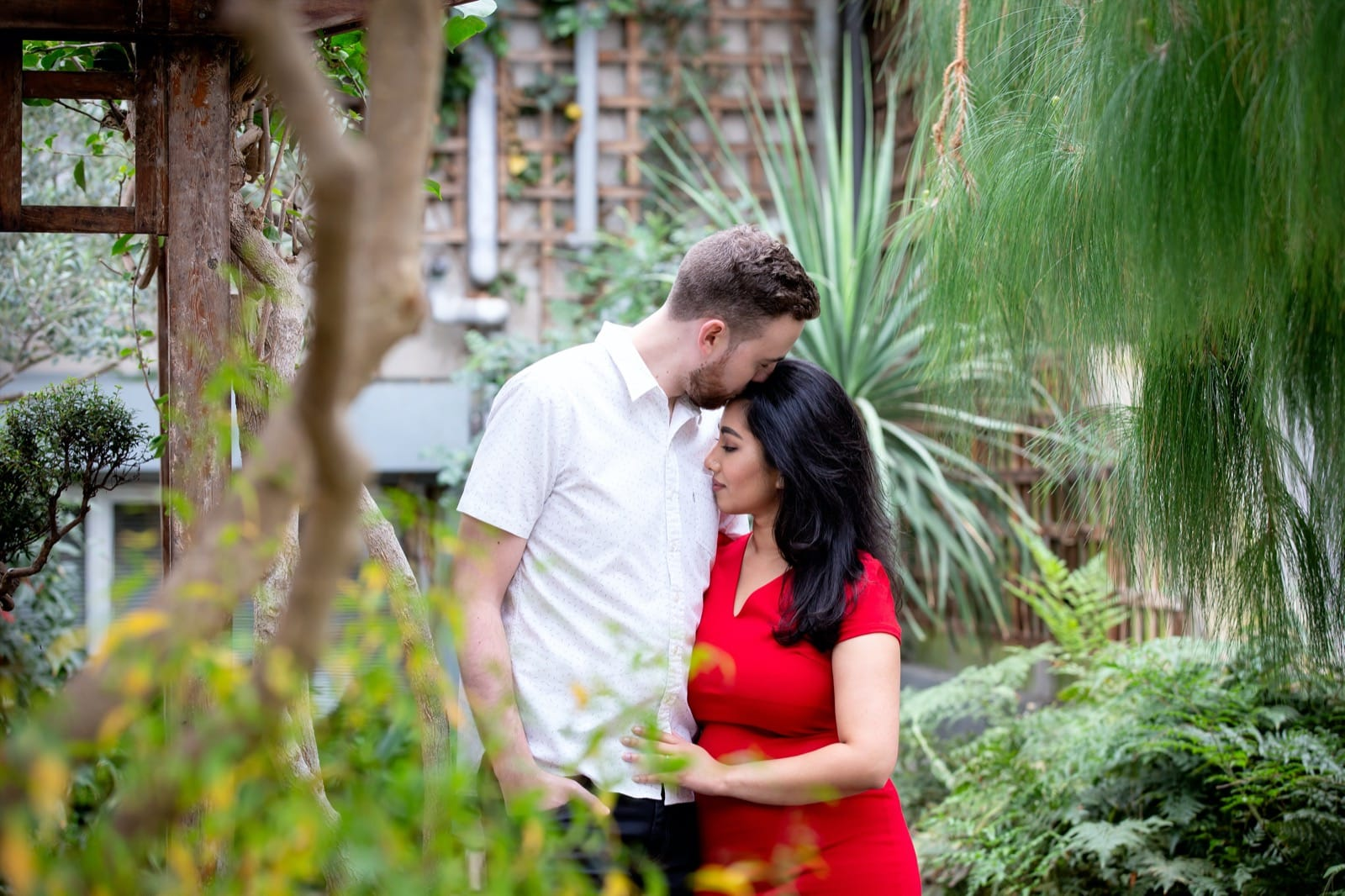 Engagement session at the Royal Botanical Gardens