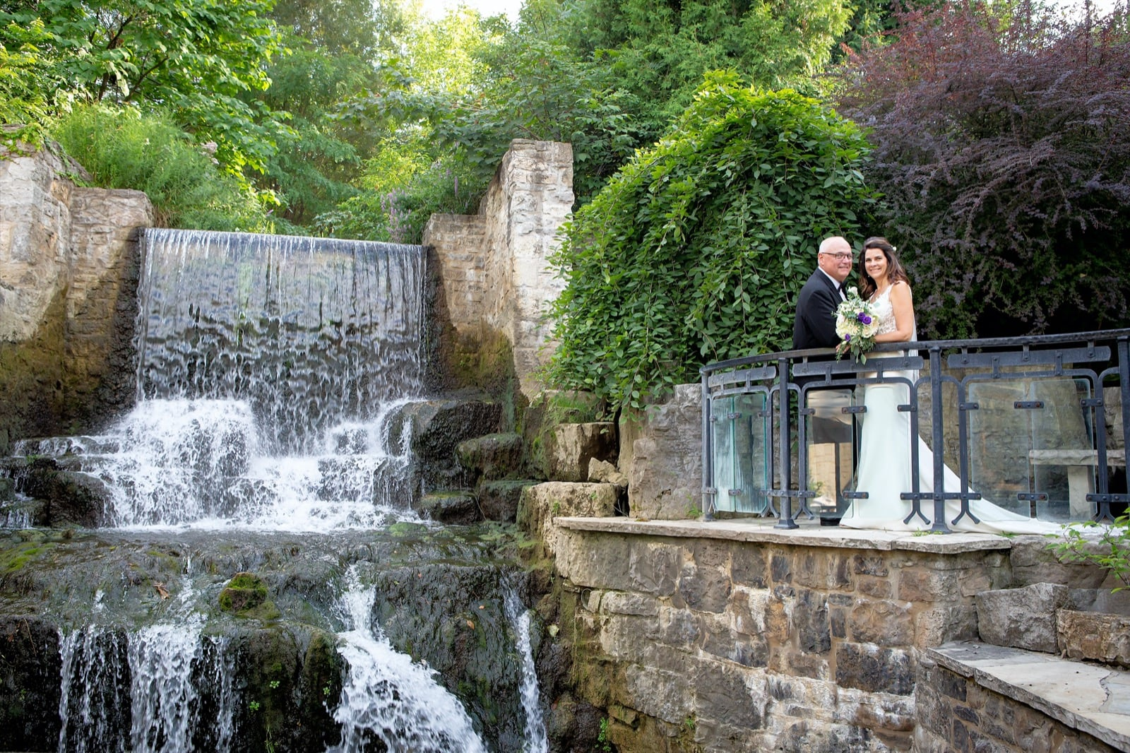 Wedding pictures at the Ancaster Mill